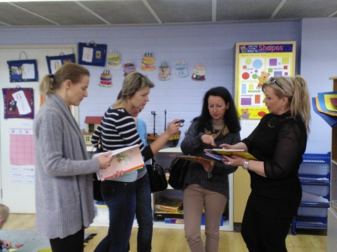 Russian day care experts were interested in the pre-school materials in English Playschool, Jyväskylä.