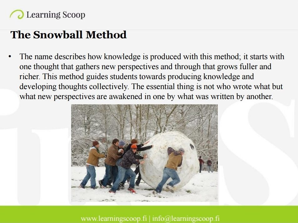 Snowball method