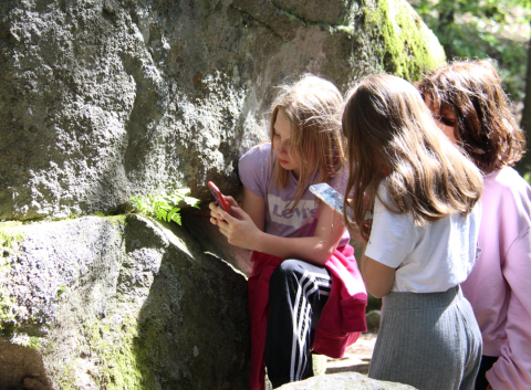 Using technology outdoors